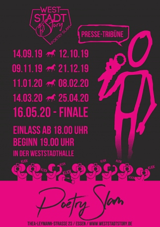 Poetry Slam om der Weststadthalle Essen